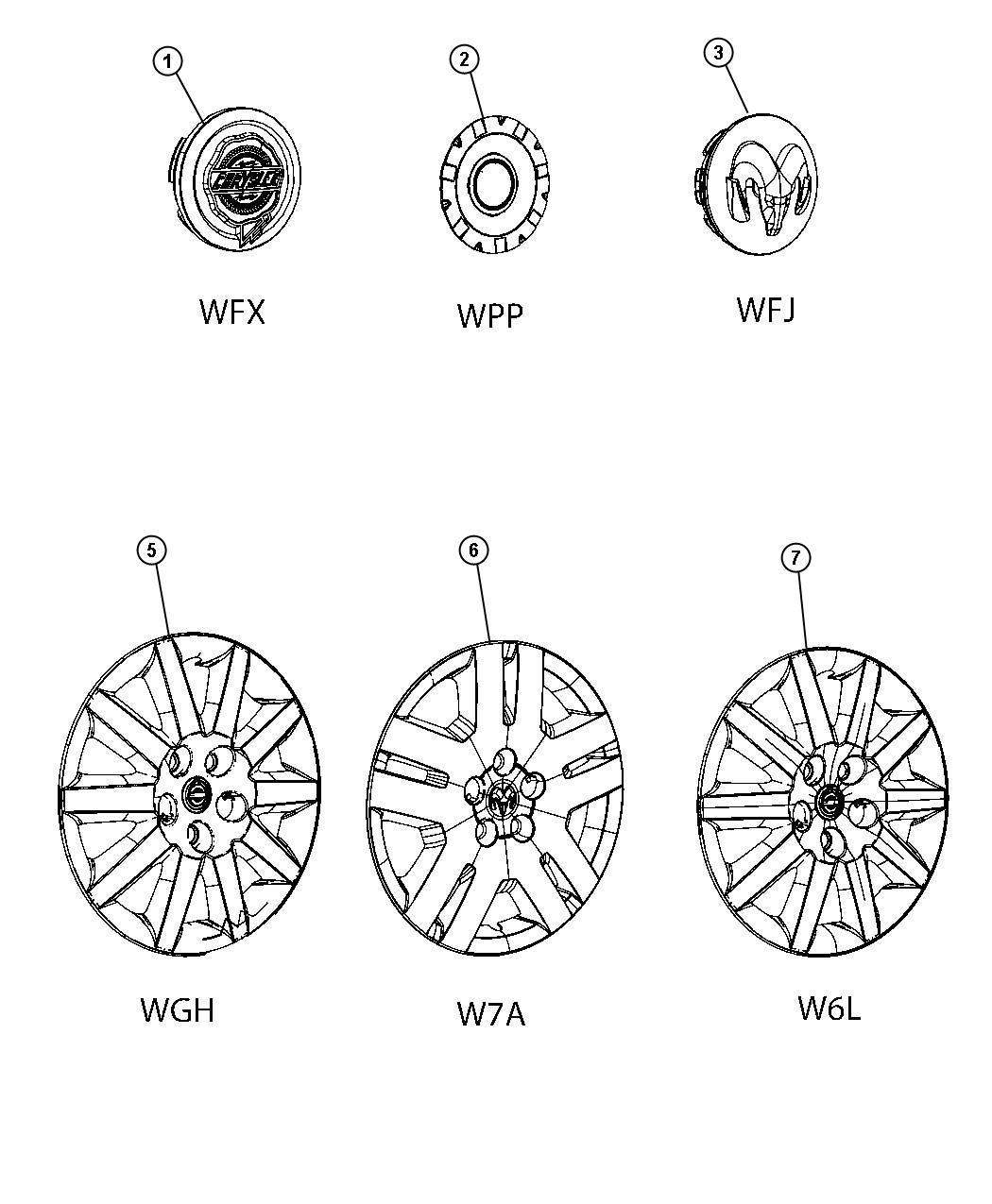 Chrysler Sebring Cover Wheel 16 Wheel Covers 16
