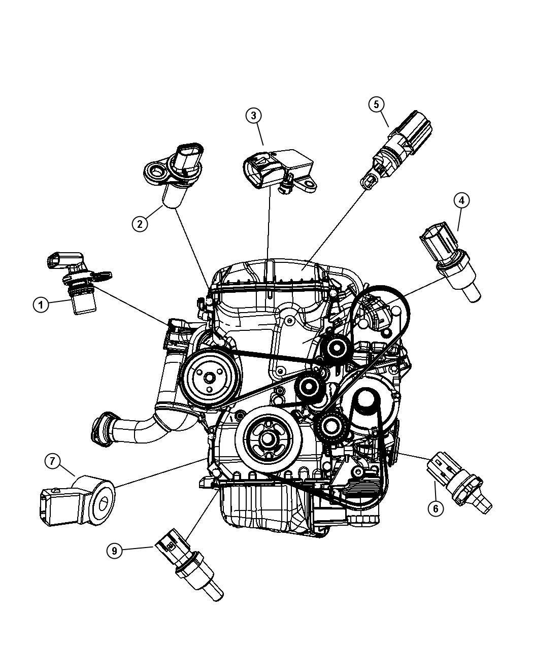 Jeep Cherokee Sensor Camshaft