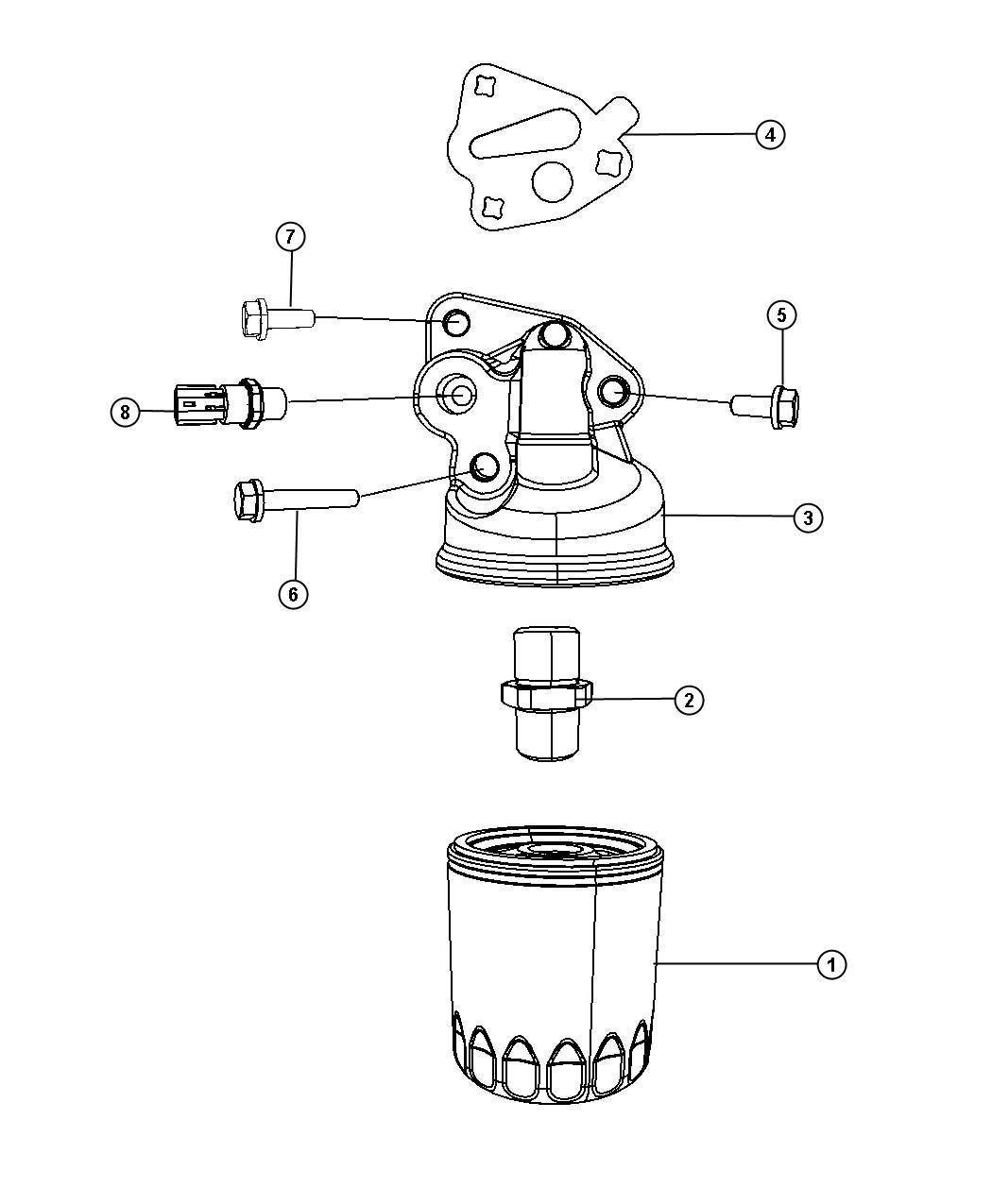 Dodge Sending Unit Switch Oil Pressure Drivetrain