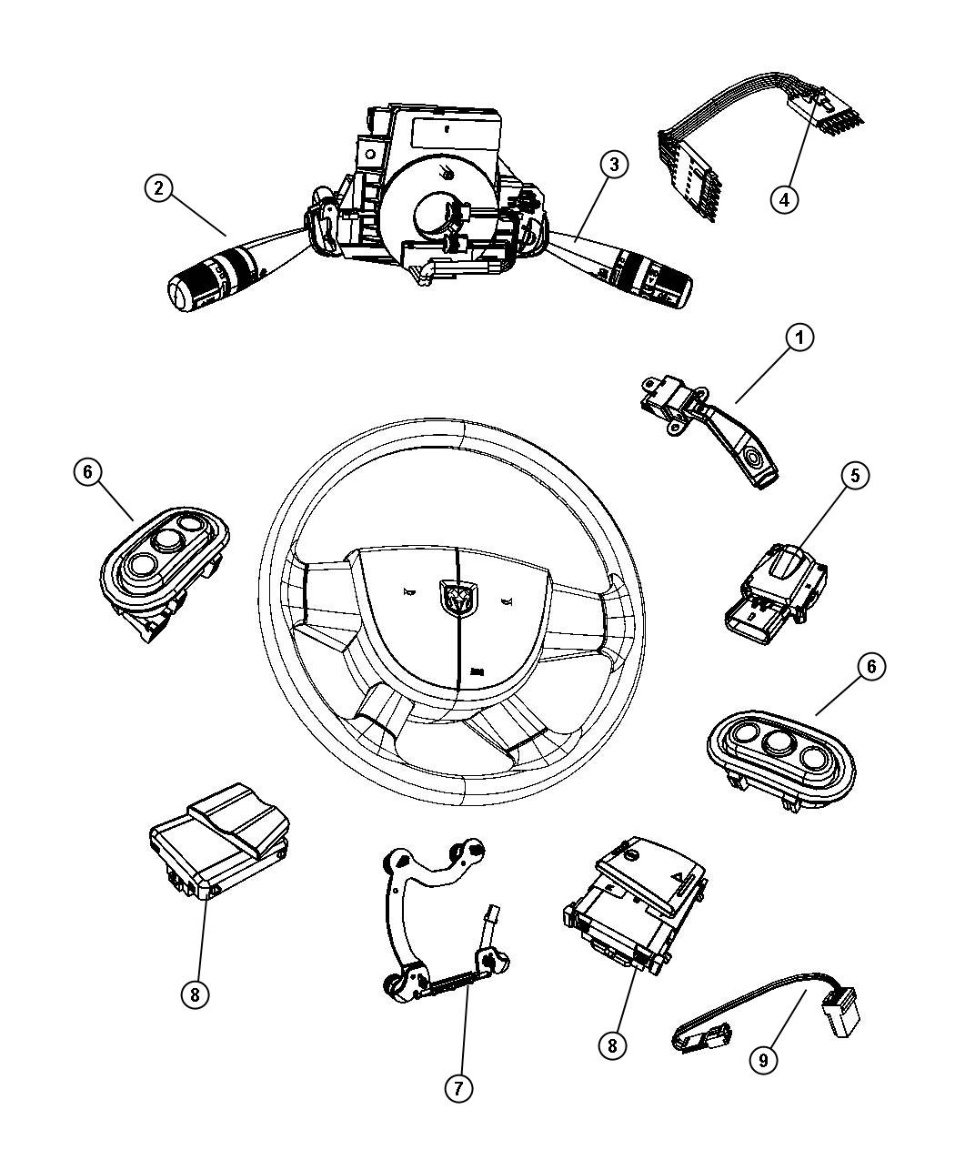 Jeep Liberty Switches Steering Column And Wheel