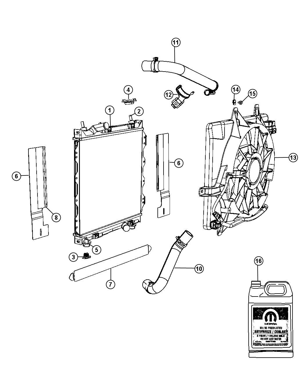 Pt Cruiser Radiator And Related Parts Gas