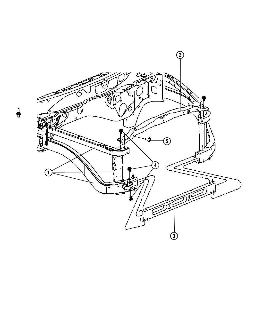 Dodge Ram Panel Radiator Closure