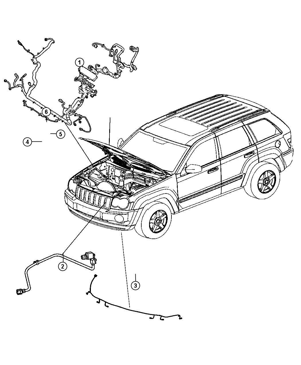 Jeep Grand Cherokee Wiring Headlamp To Dash Base