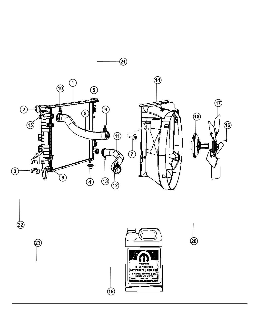 Radiator And Related Parts 5 7l 5 7l V8 Hemi Vvt Engine