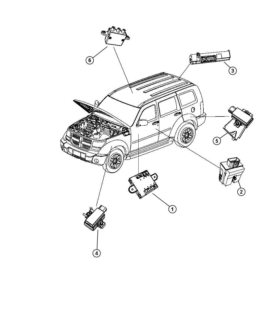 Dodge Nitro Module Trigger Tire Pressure Tire Pressure