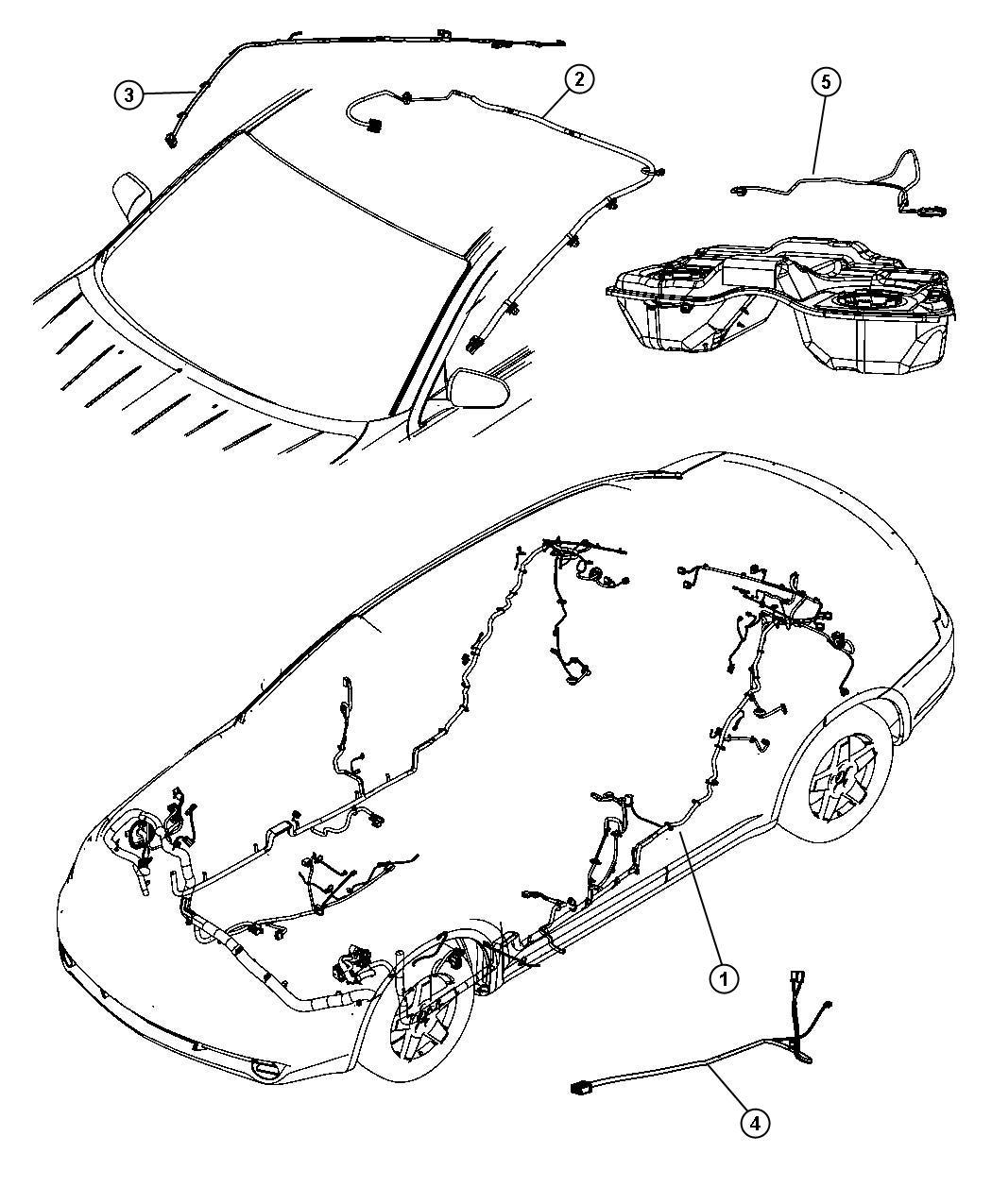 Chrysler Sebring Wiring Mirror Jumper Rear View Mirror