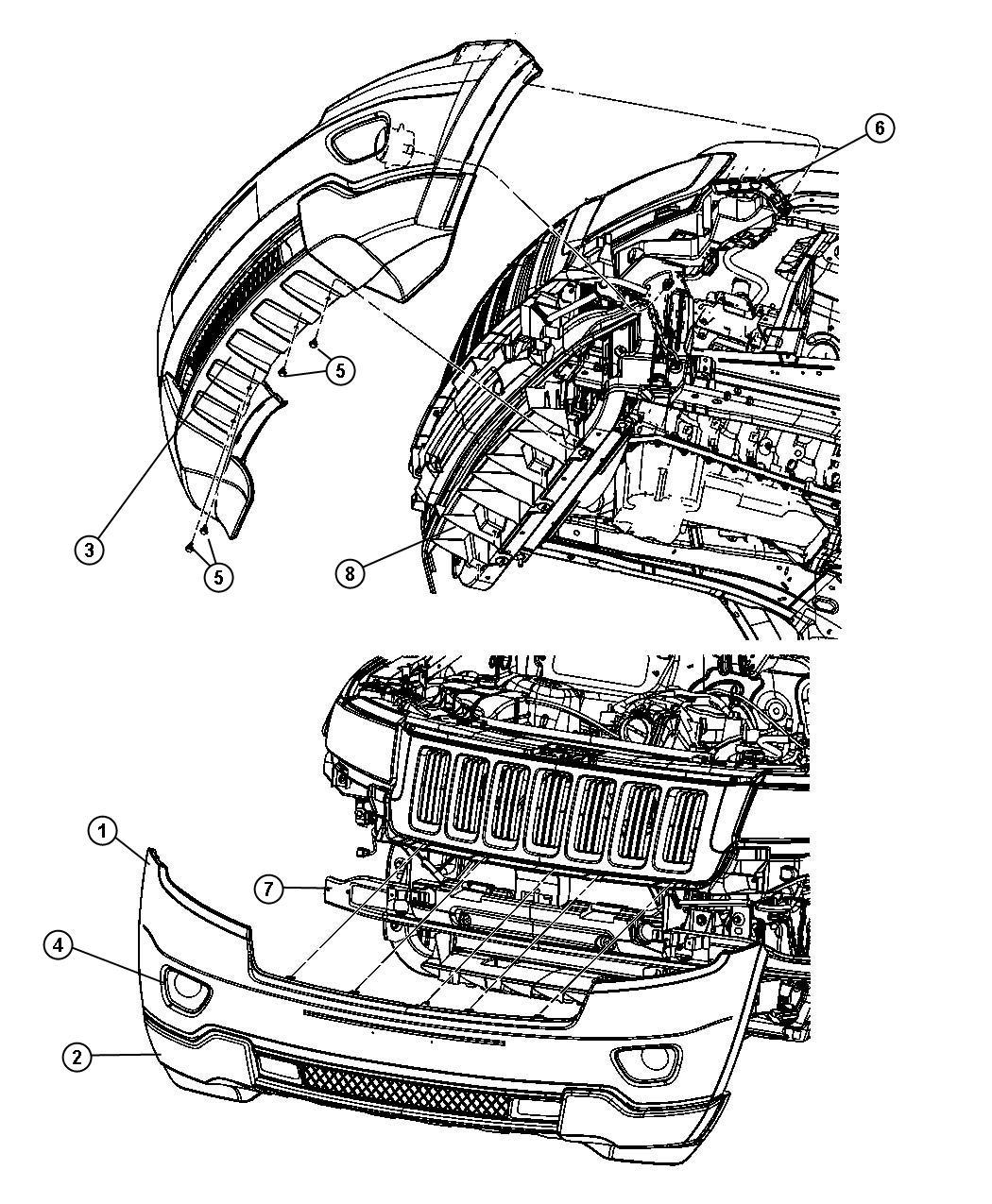 Jeep Applique Fascia Washerpassive Deleteadaptive