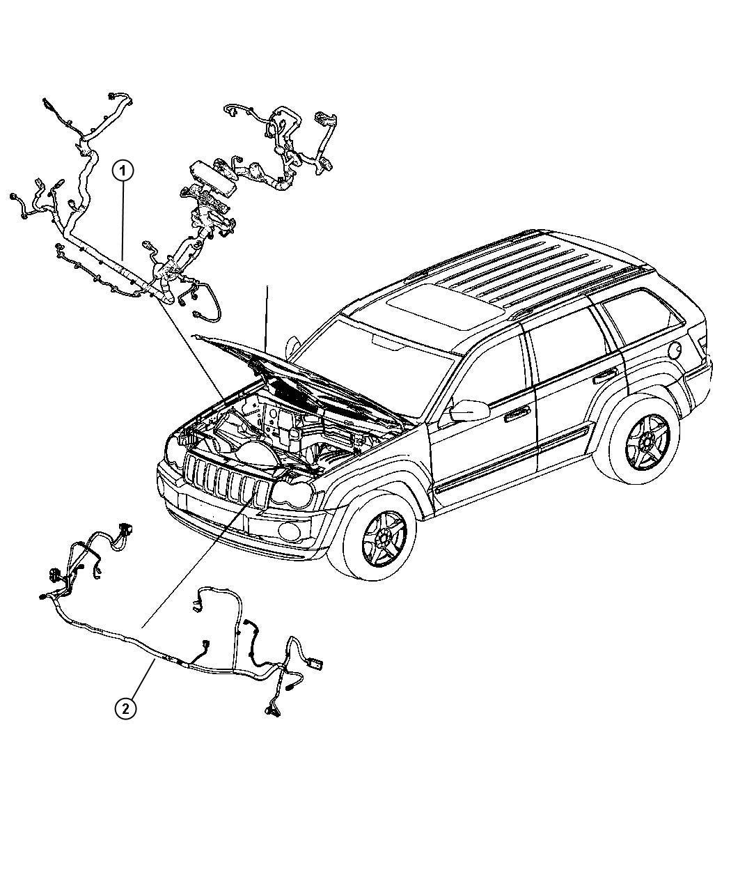 Jeep Grand Cherokee Wiring Headlamp To Dash Heavy Duty