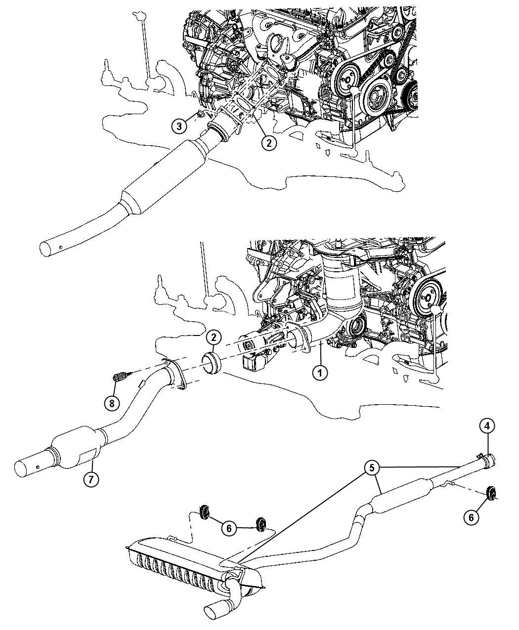 Jeep Patriot Gasket Catalytic Converter Awd