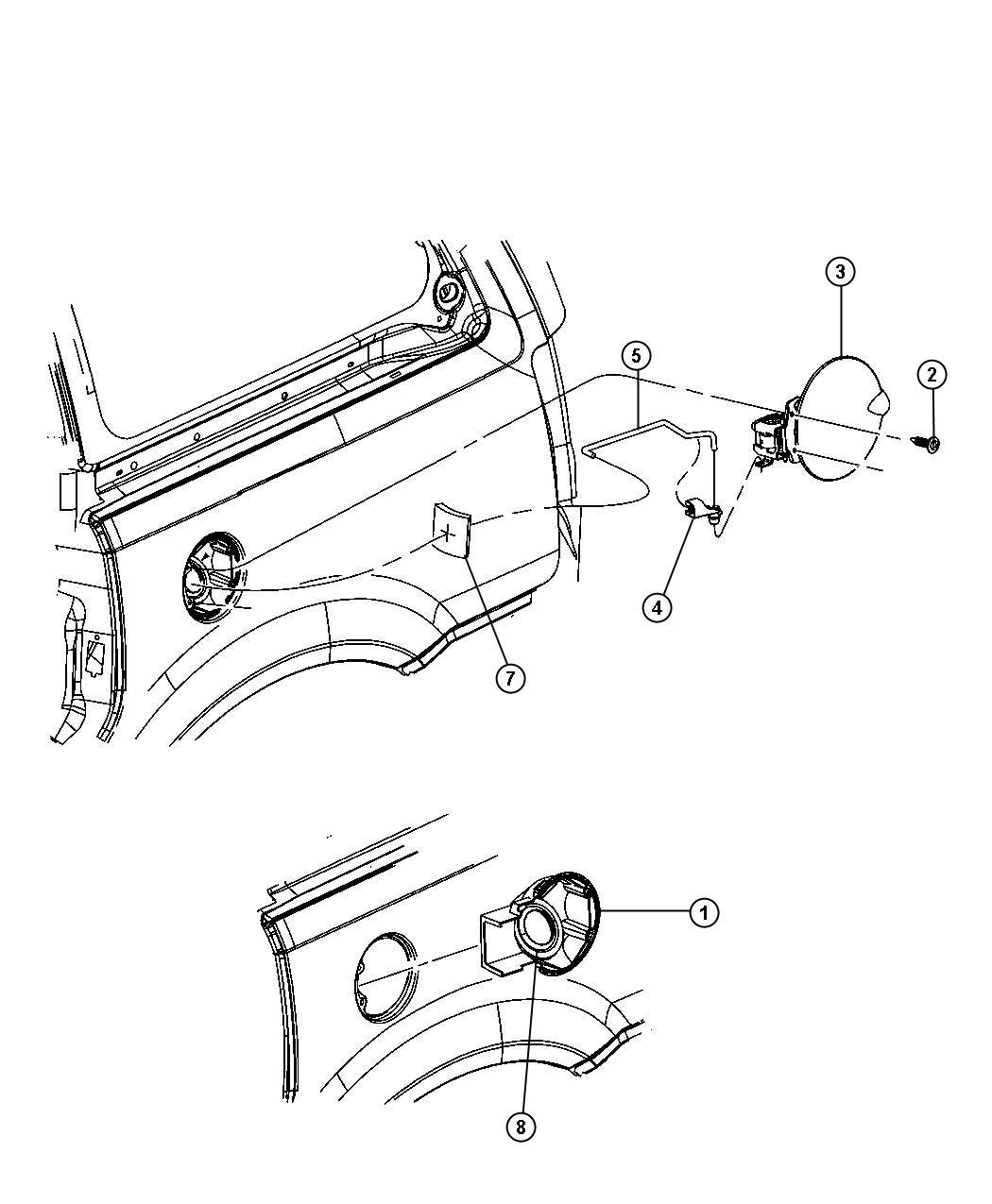 Chrysler Pacifica Foam Pad Fuel Door Blocker Link
