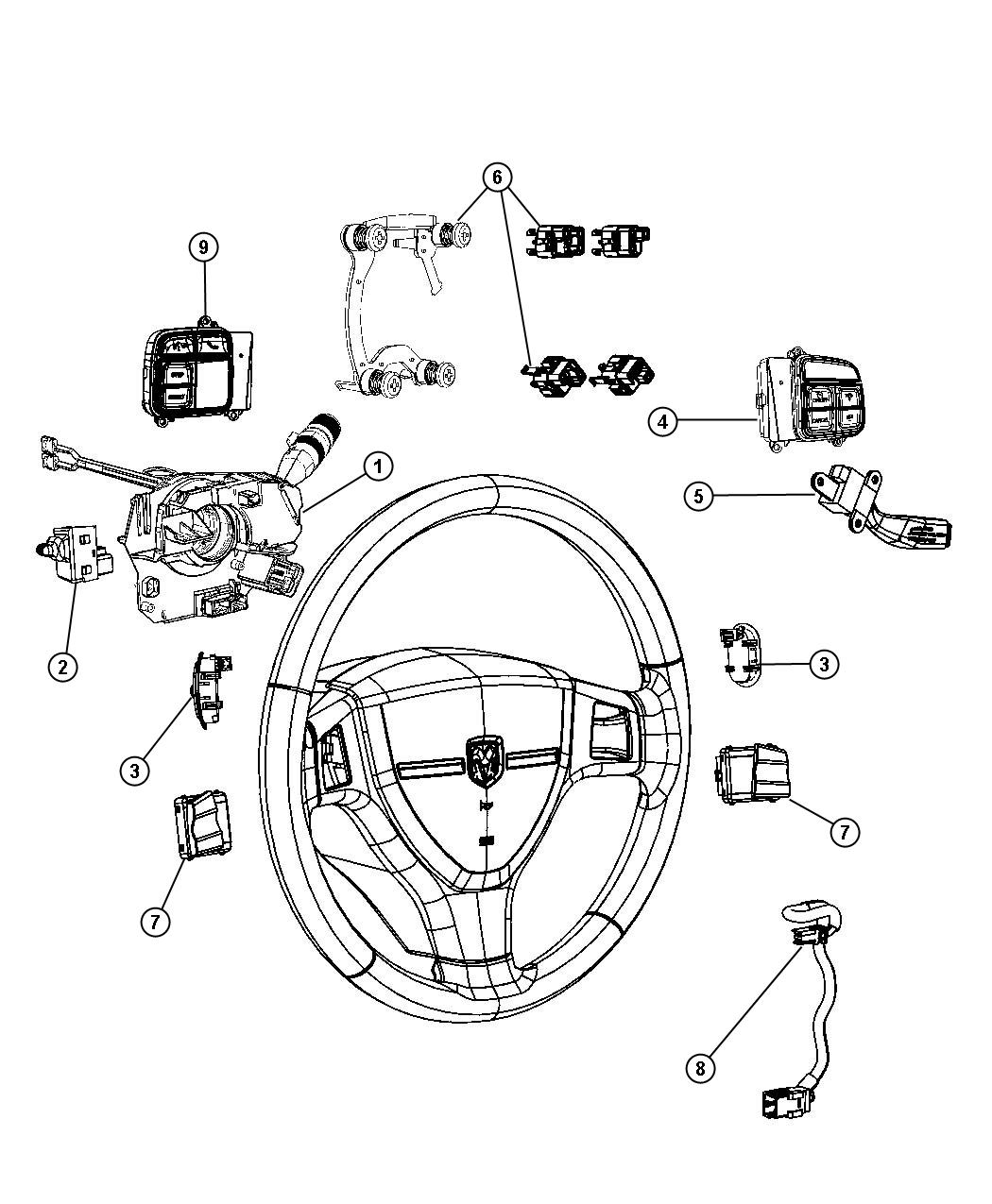 Switches Steering Column And Wheel