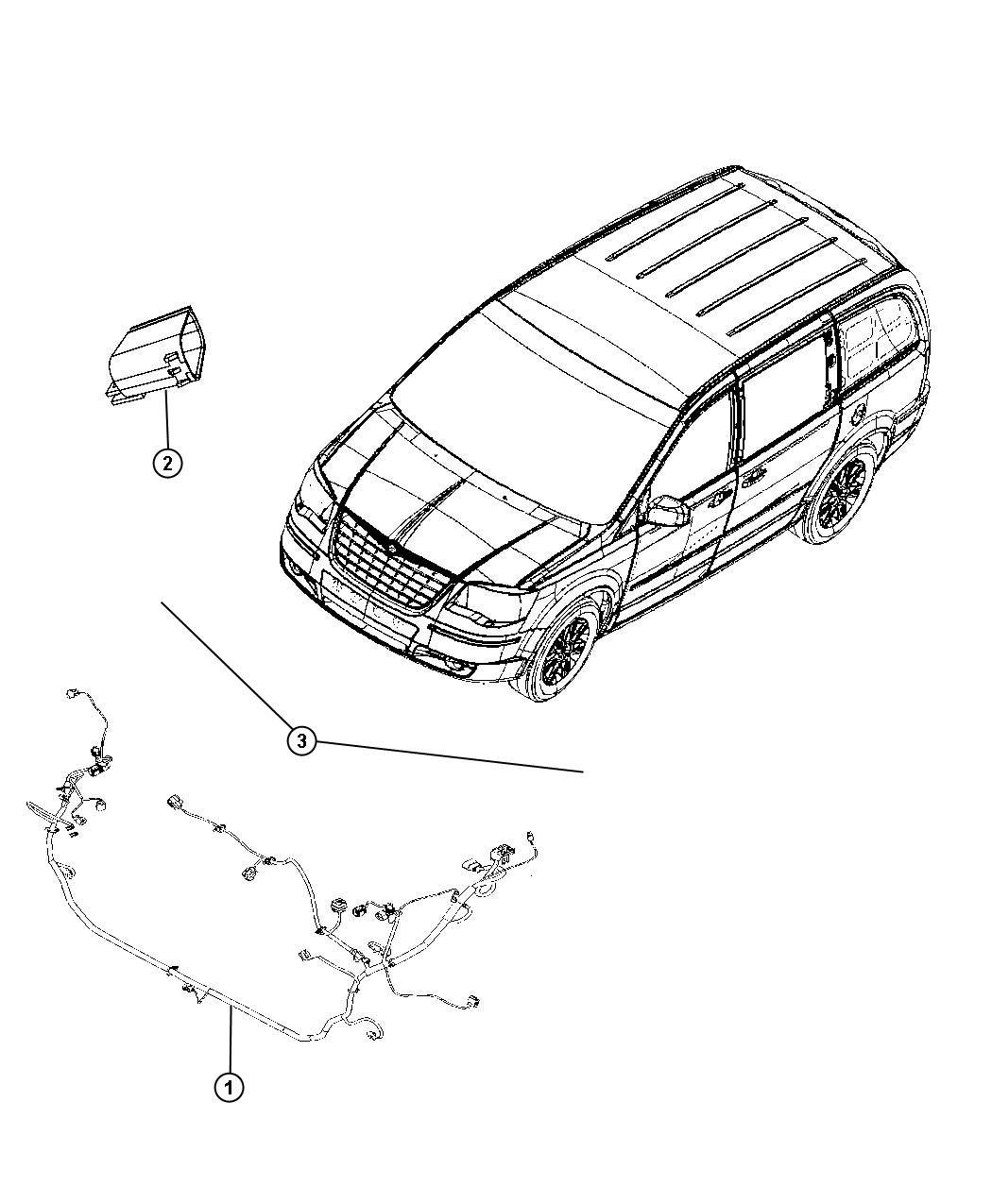 Dodge Grand Caravan Wiring Headlamp H I D E Marked