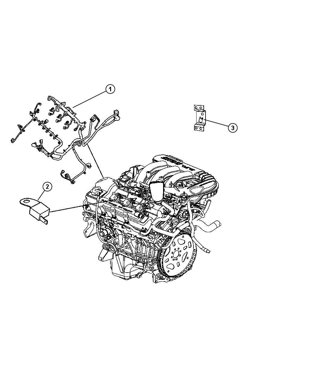 Dodge Express Bracket Engine Wiring Injector Harness