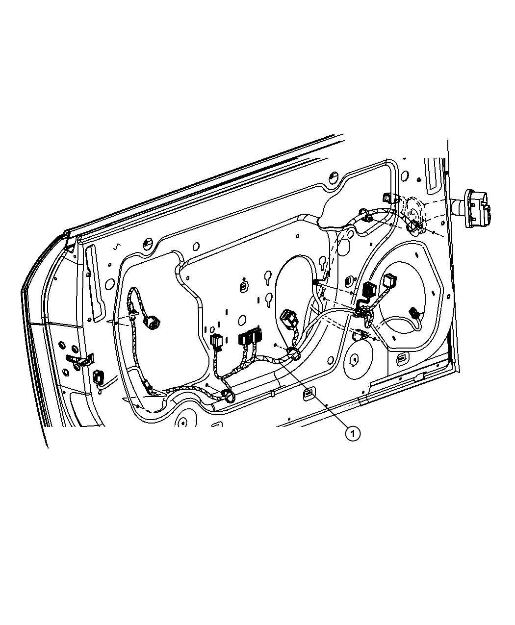 Dodge Challenger Wiring Front Door Right