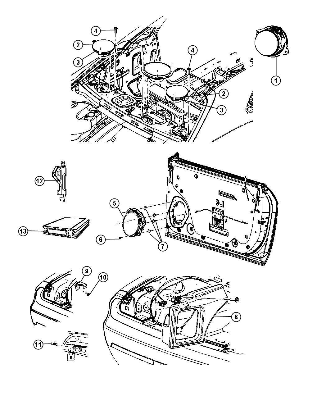 Dodge Challenger Enclosure Speaker Woofer