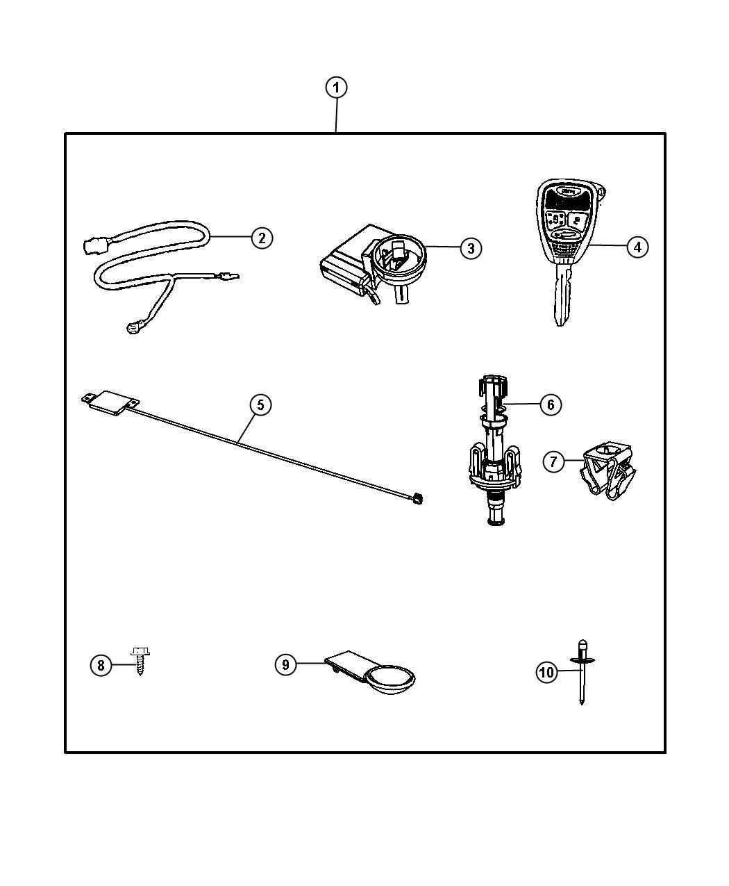 Chrysler Sebring Key Blank With Transmitter
