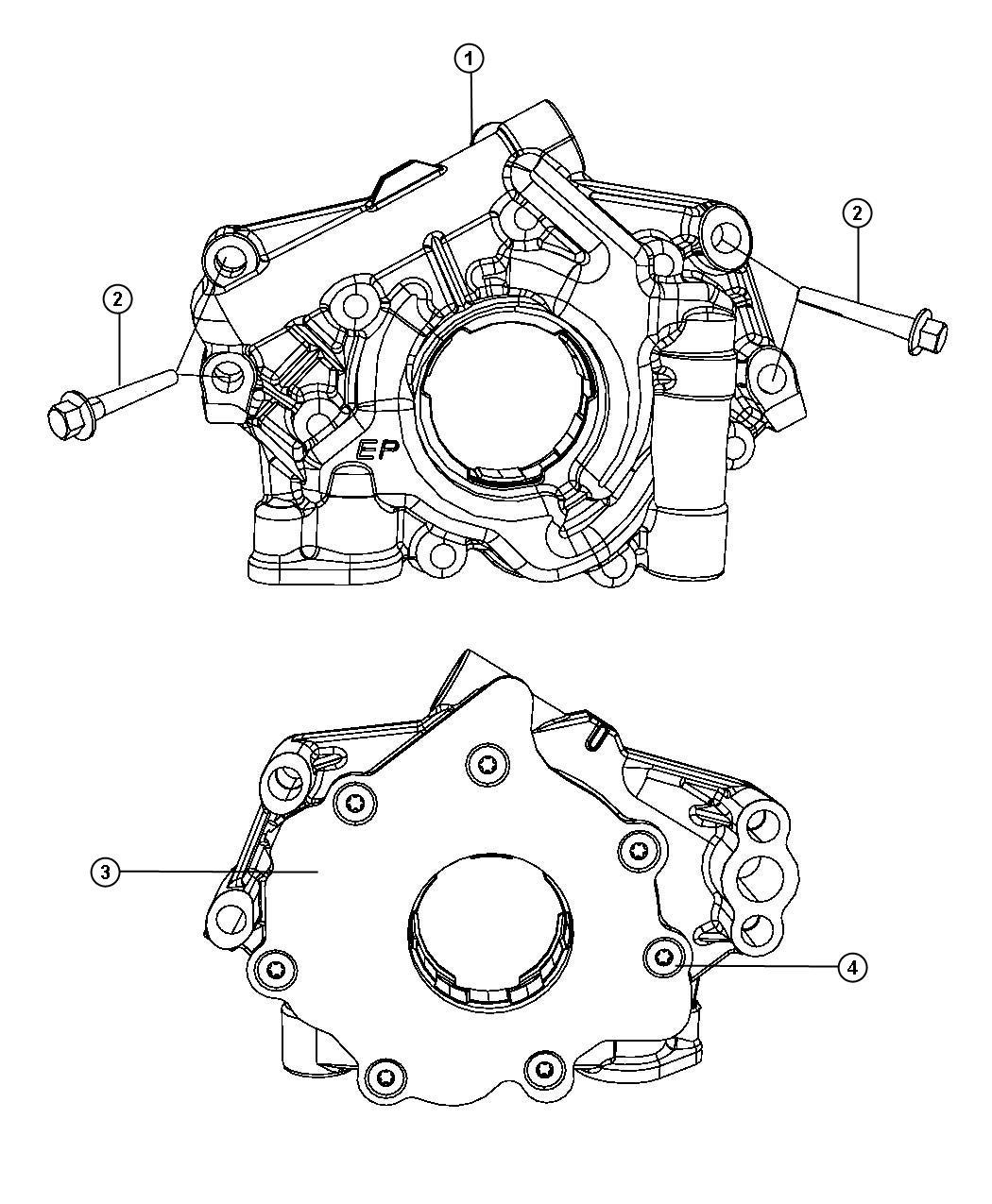 Ram Engine Oiling Pump 5 7l 5 7l V8 Hemi Vvt Engine