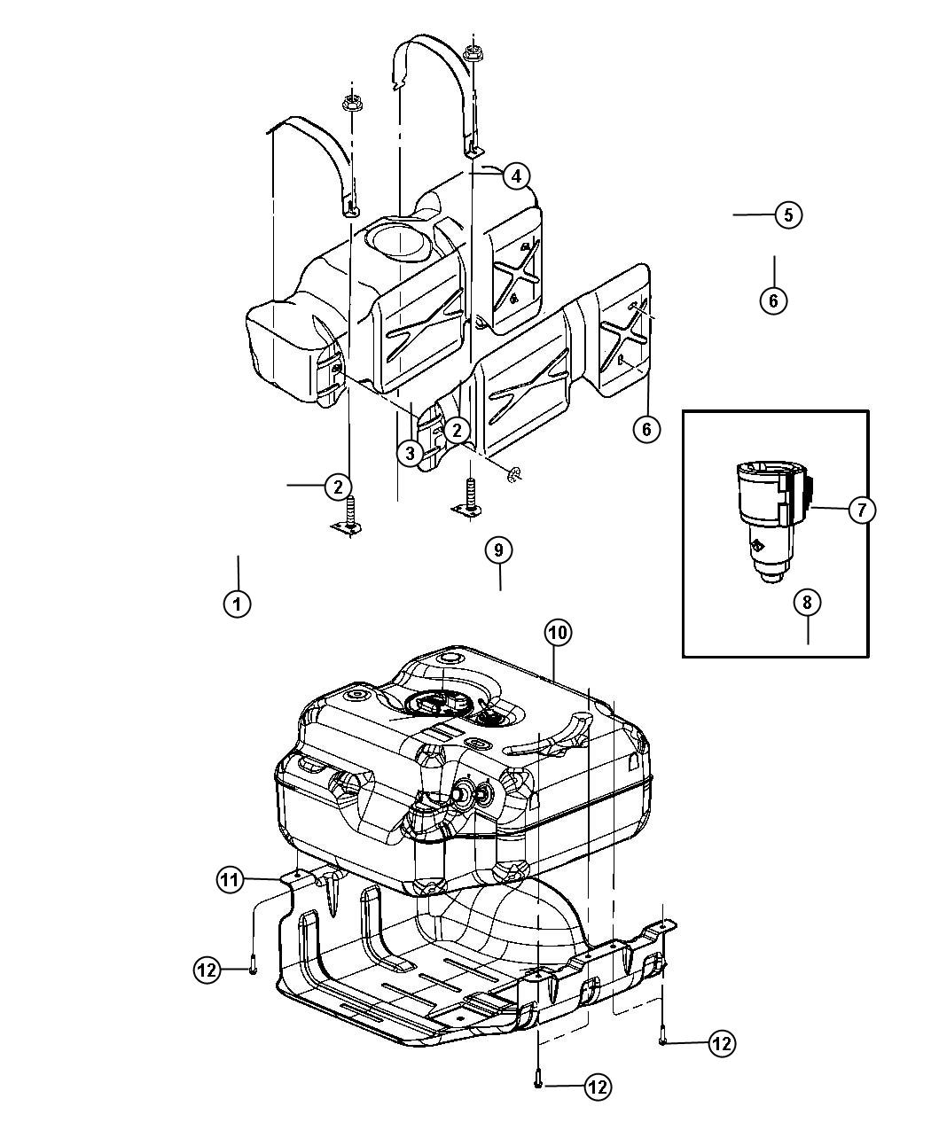 Ram Tube Fuel Vapor 52 Gallon Rear Fuel Tank