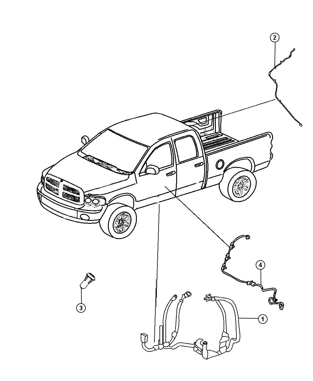 Ram Wiring Body Dual Rear Wheels 6 Speakers