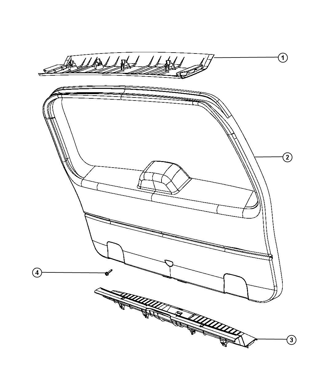 Liftgate Panels And Scuff Plate