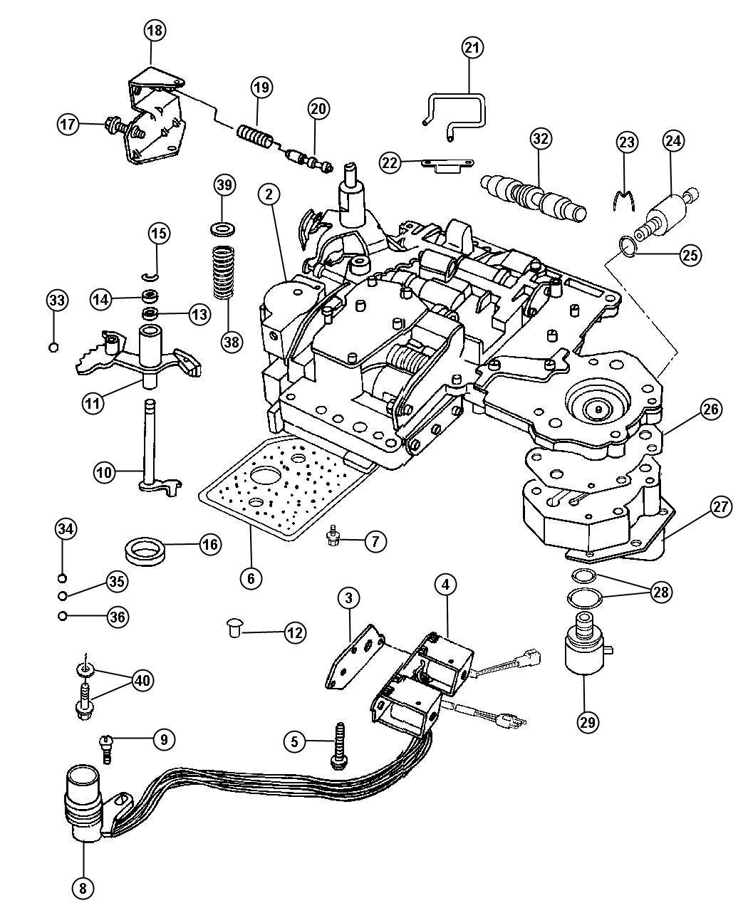 Dodge Ram Body Lever Valve Body Manual Valve