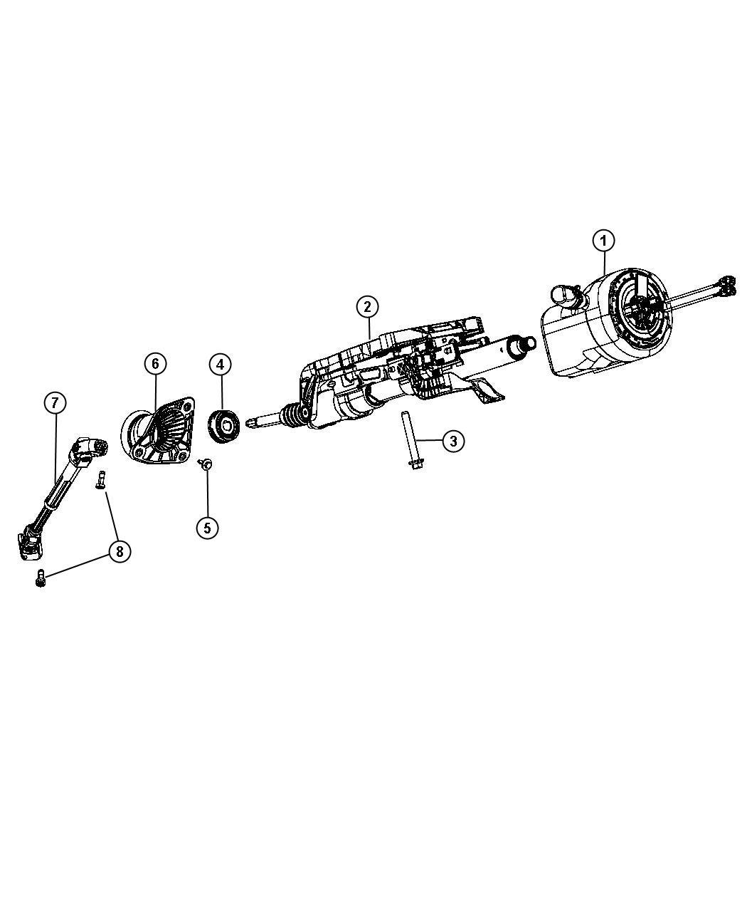 Dodge Durango Shaft Steering Column Intermediate