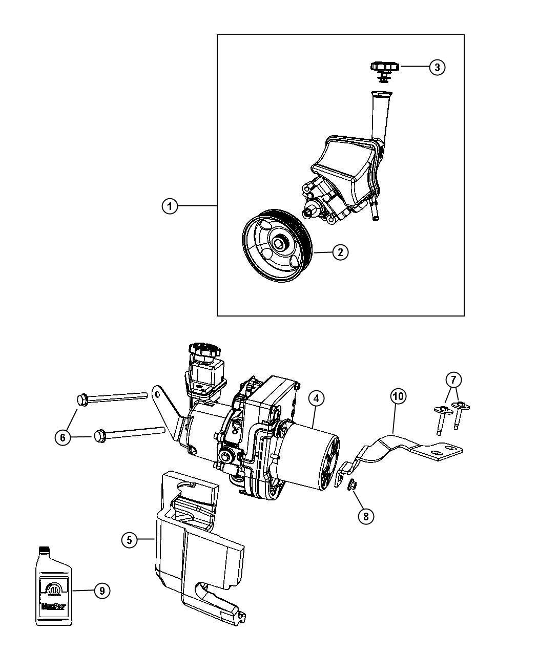 Chrysler Pump Power Steering Nonsrt Esdezh
