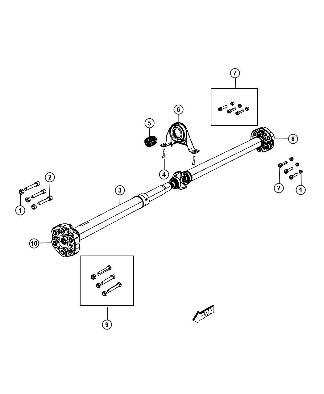 Dodge Charger Bolt Kit Mounting
