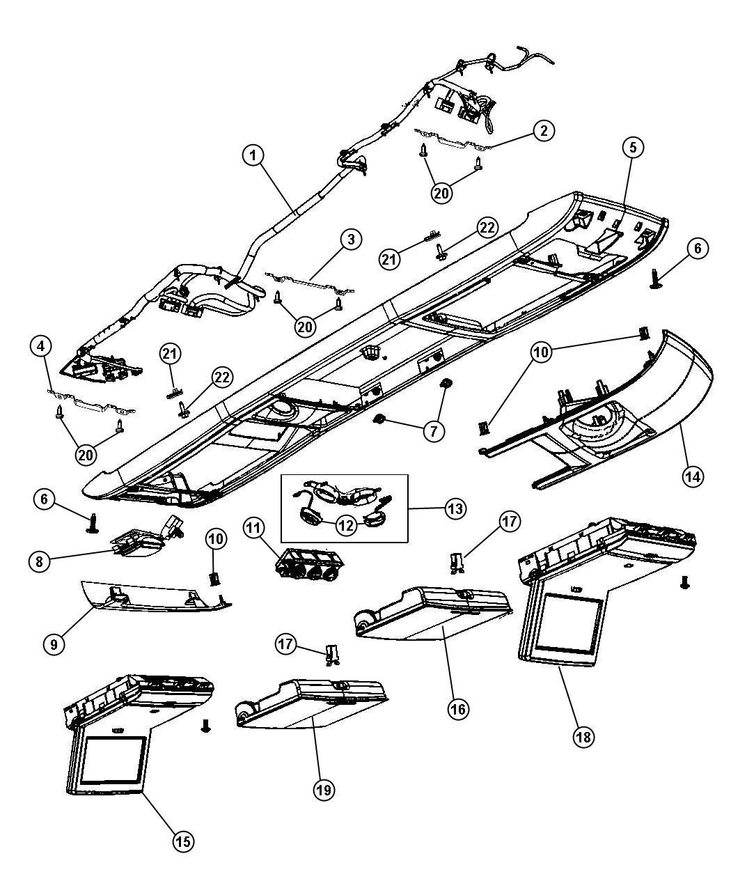 Dodge Grand Caravan Wiring Canada Overhead Console Trim