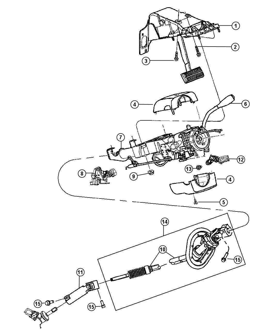 Dodge Ram Shaft Kit Steering Column