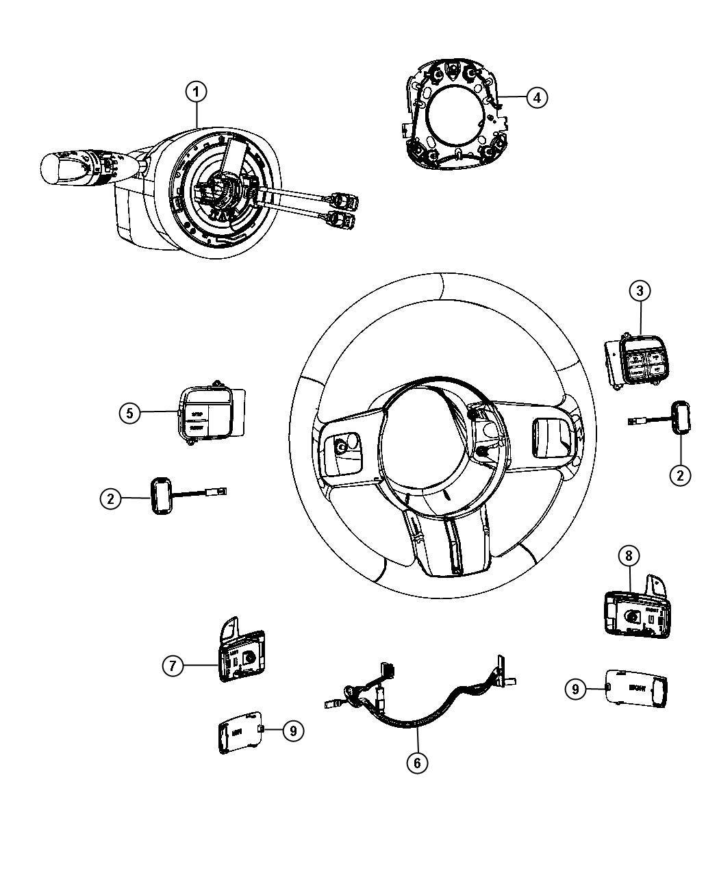 Jeep Grand Cherokee Module Steering Column Trim No