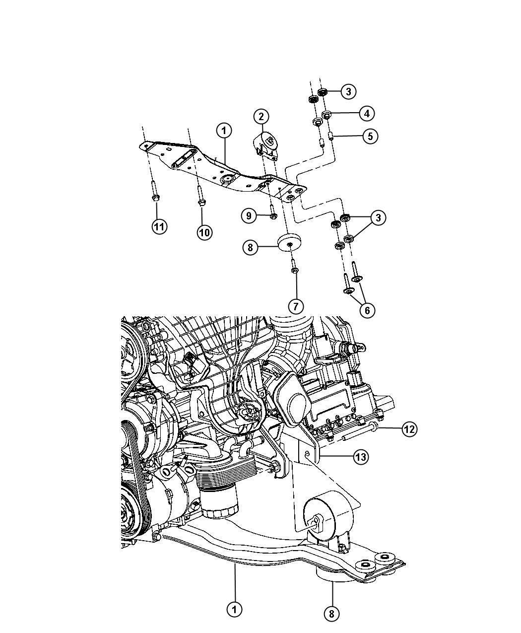 Dodge Journey Engine Mount Front