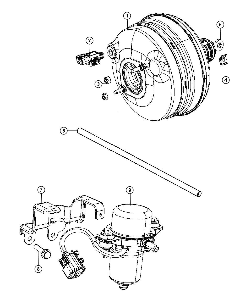 Challenger Booster And Pump Vacuum Power Brake