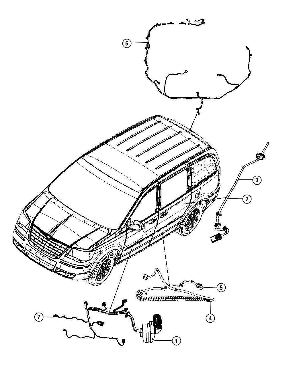 Chrysler Town Amp Country Wiring Sliding Door Track Right