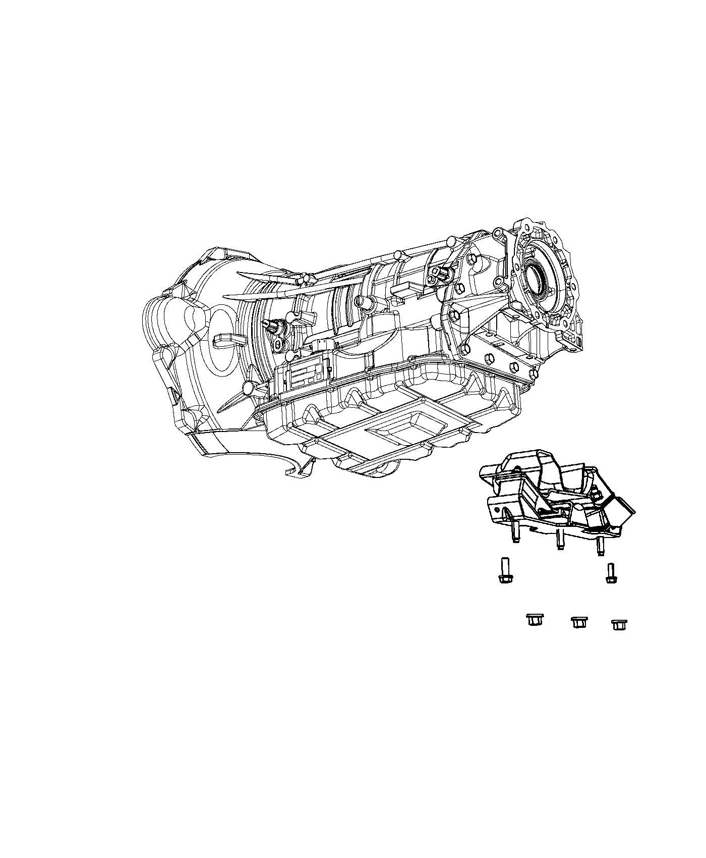 Ram Isolator Transmission Mount 3 73 Rear Axle
