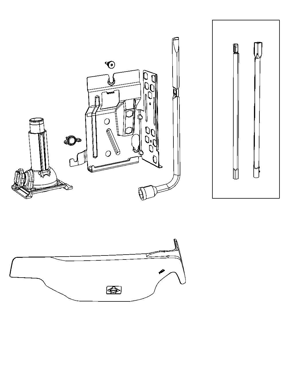 Dodge Ram Wrench Wheel Lug Nut Full Size Spare