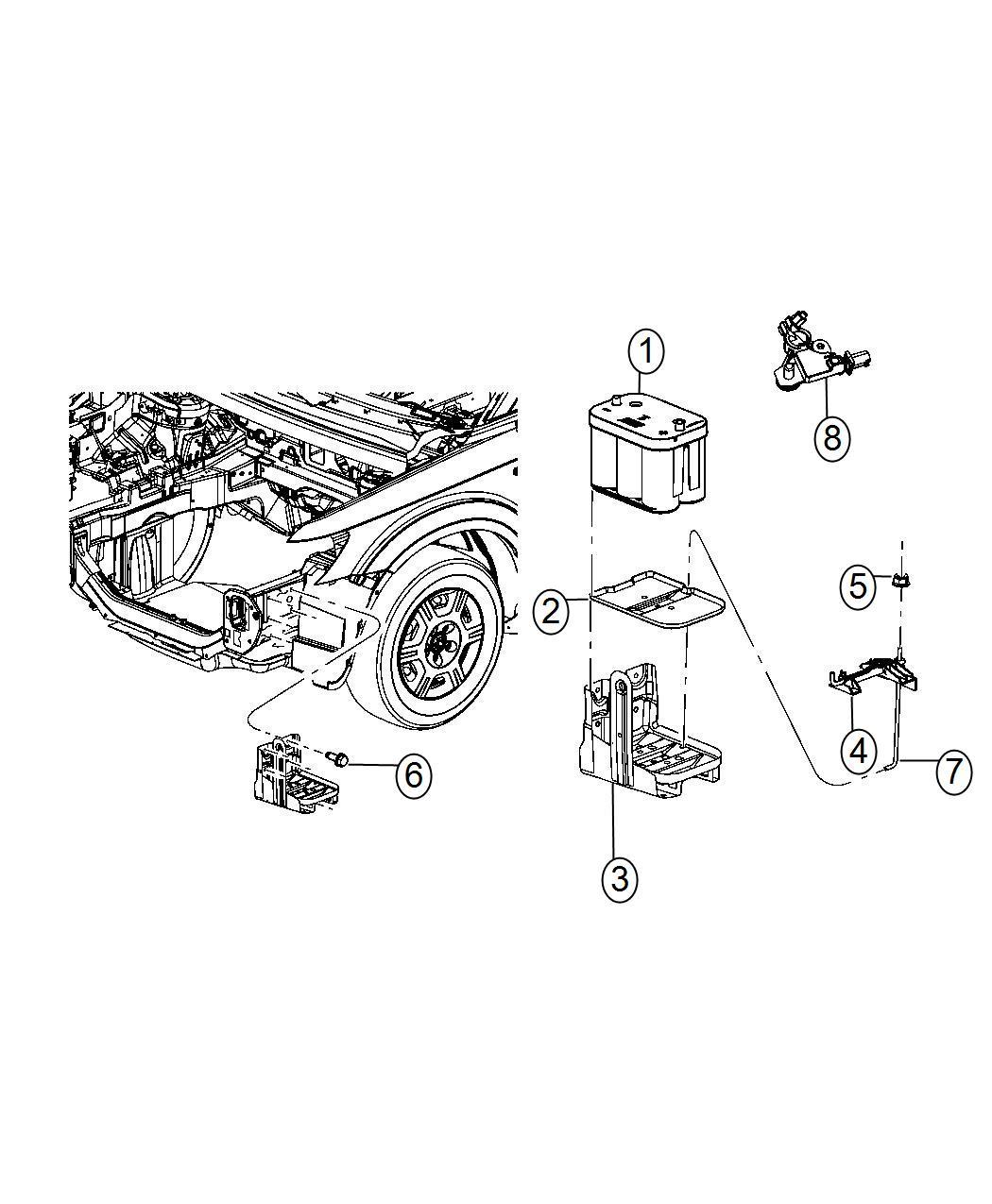 Dodge Journey Retainer Battery