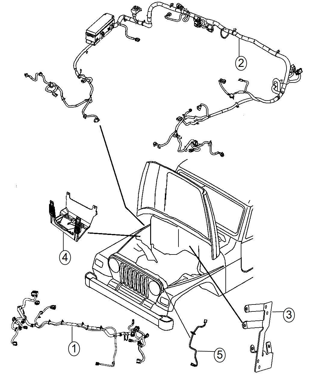 Jeep Wrangler Wiring Headlamp China Equipment