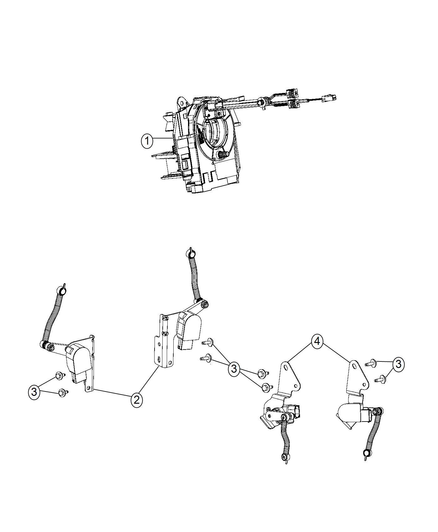 Ram Ball Stud Rear Air Suspension Height Sensor