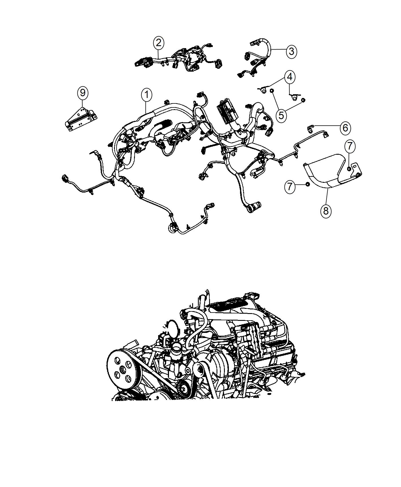 Jeep Wrangler Wiring Engine Complete Chassis Parts