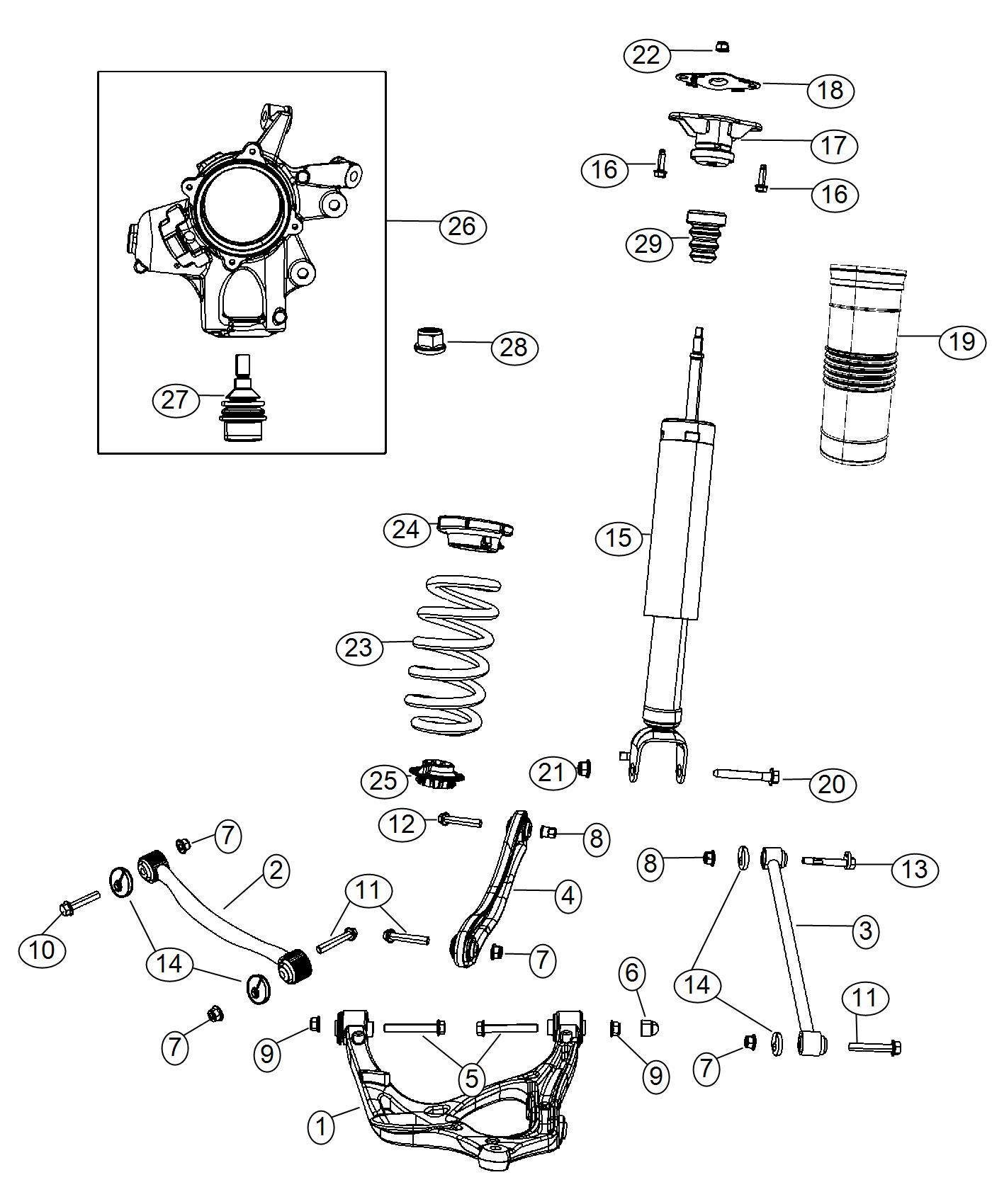 Dodge Durango Shock Absorber Kit Suspension Rear Rear