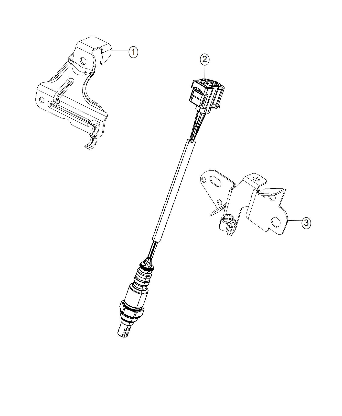 Jeep Grand Cherokee Strap Tie Clip To O2 Sensor Clip To