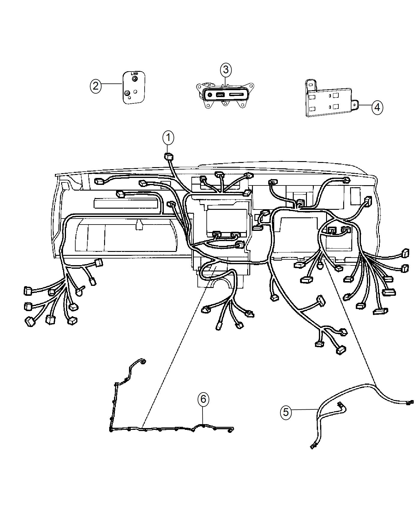 Jeep Grand Cherokee Bracket Wiring Harness