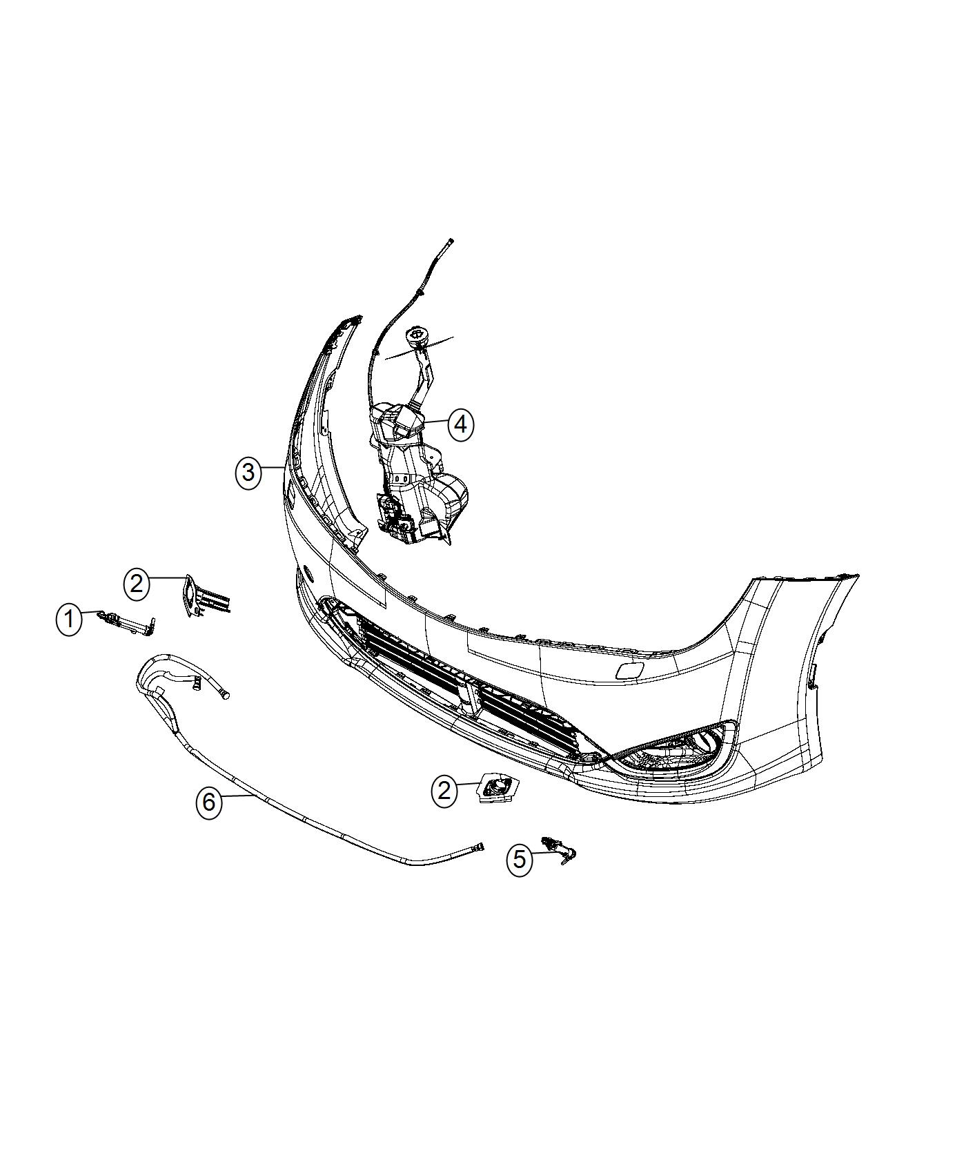 Chrysler Pacifica Hose Washer Headlamp