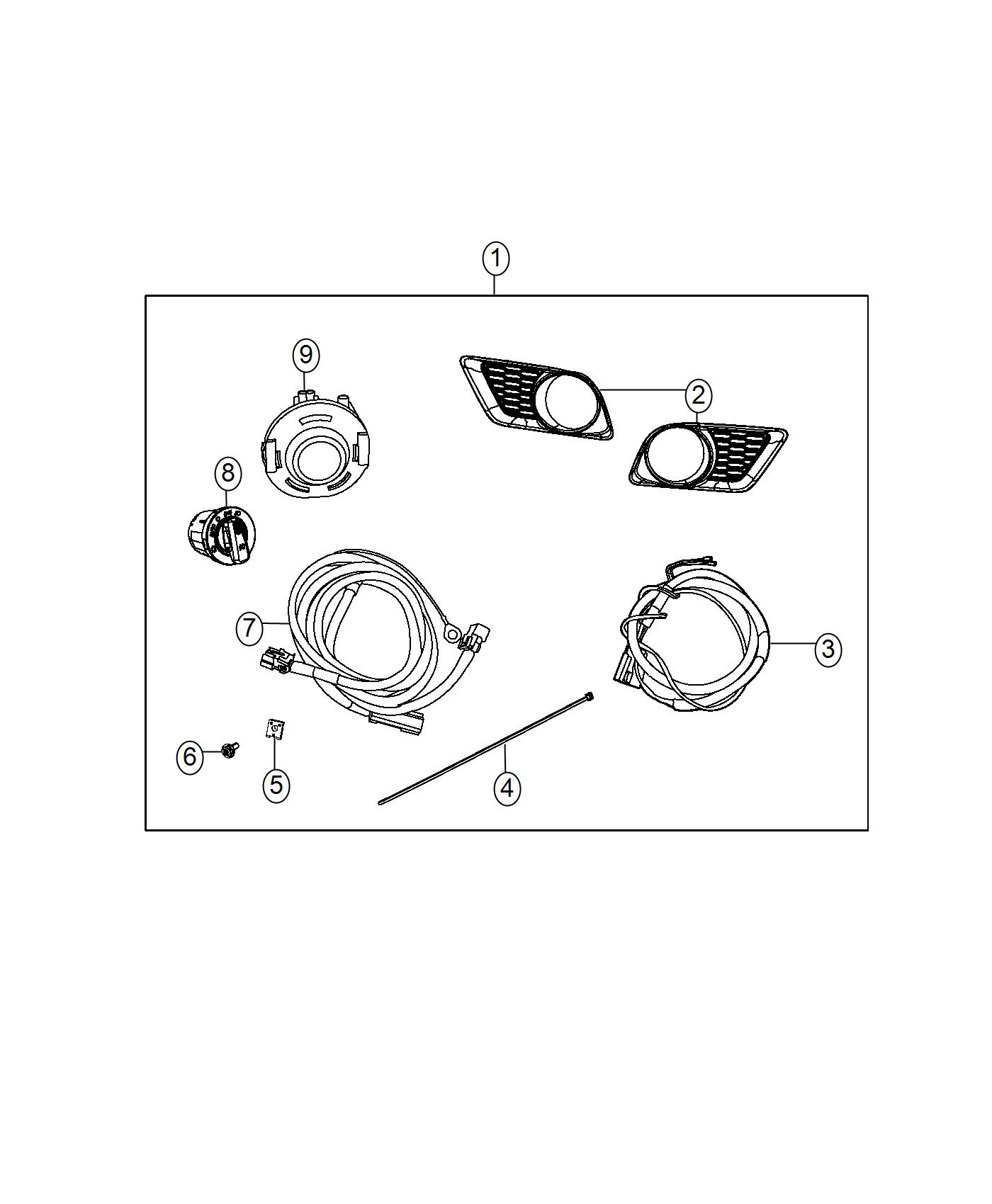 Dodge Charger Light Kit Fog Automatic Headlamps