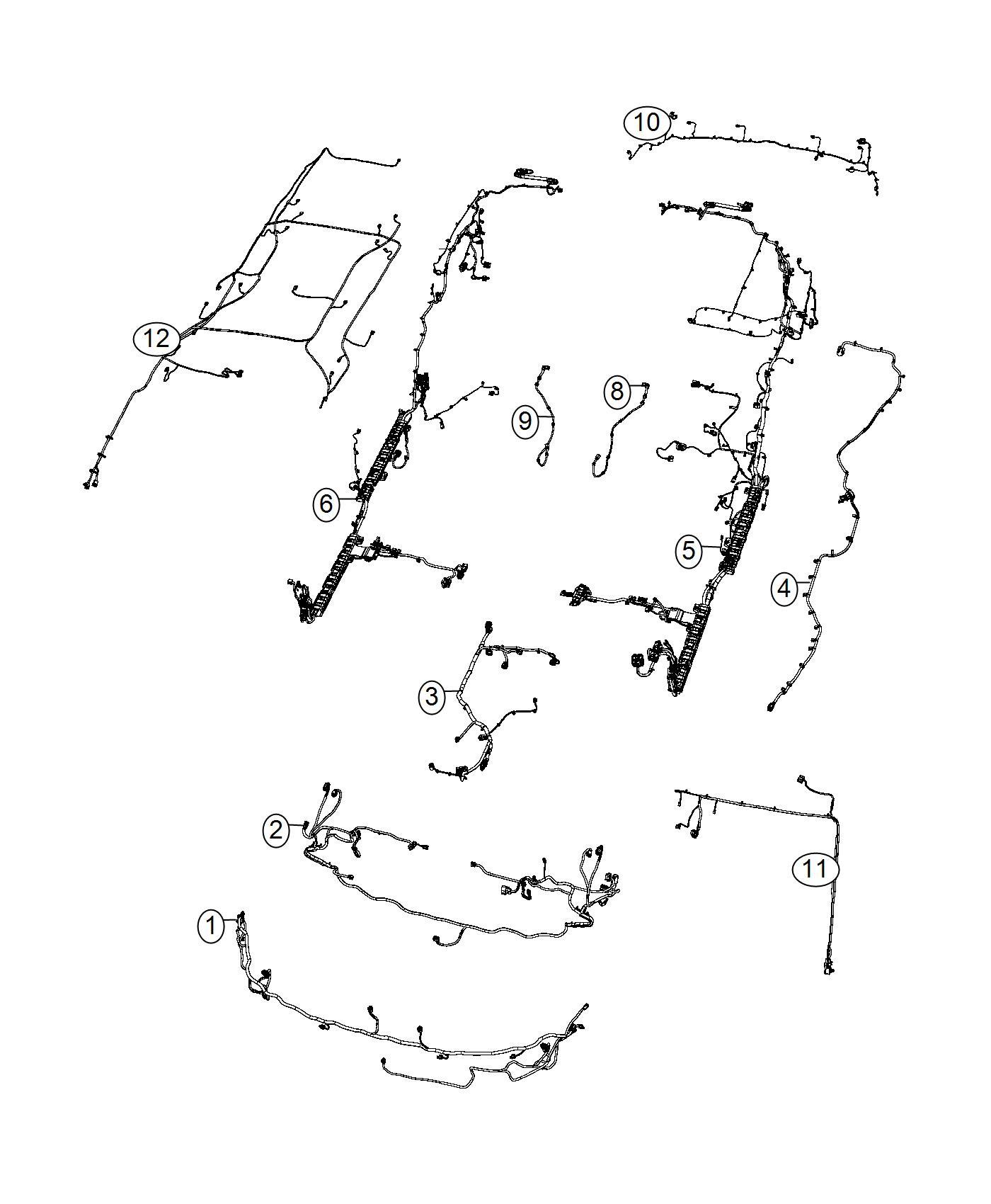 Chrysler Pacifica Wiring Body Left