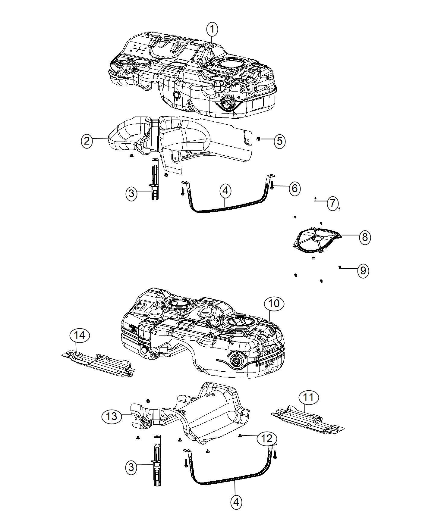Chrysler 200 Skid Plate Fuel Tank Left 2 0l I4 Turbo