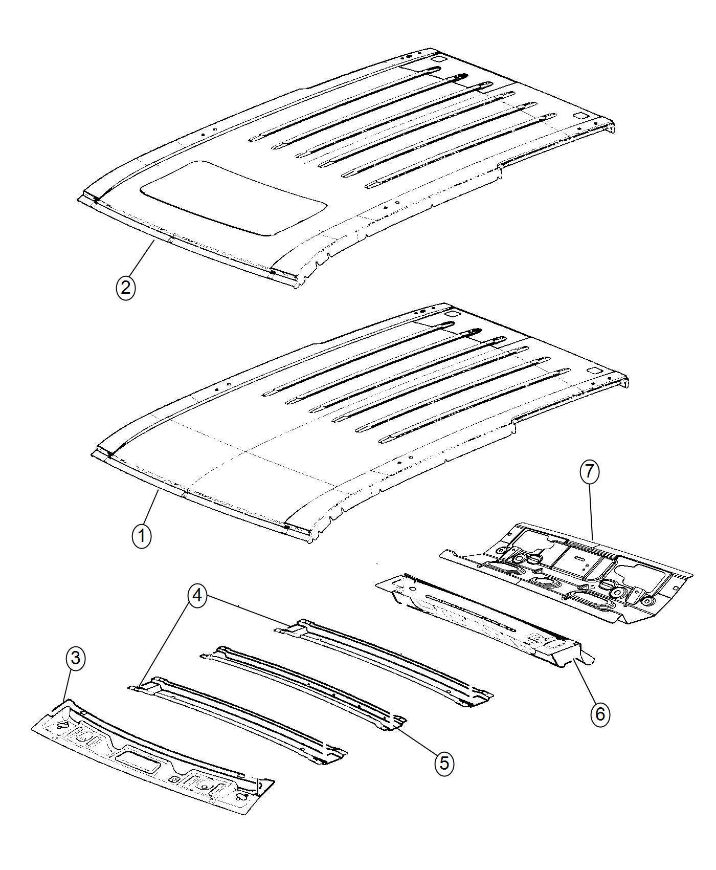 Jeep Grand Cherokee Panel Roof Without Sunroof Opening