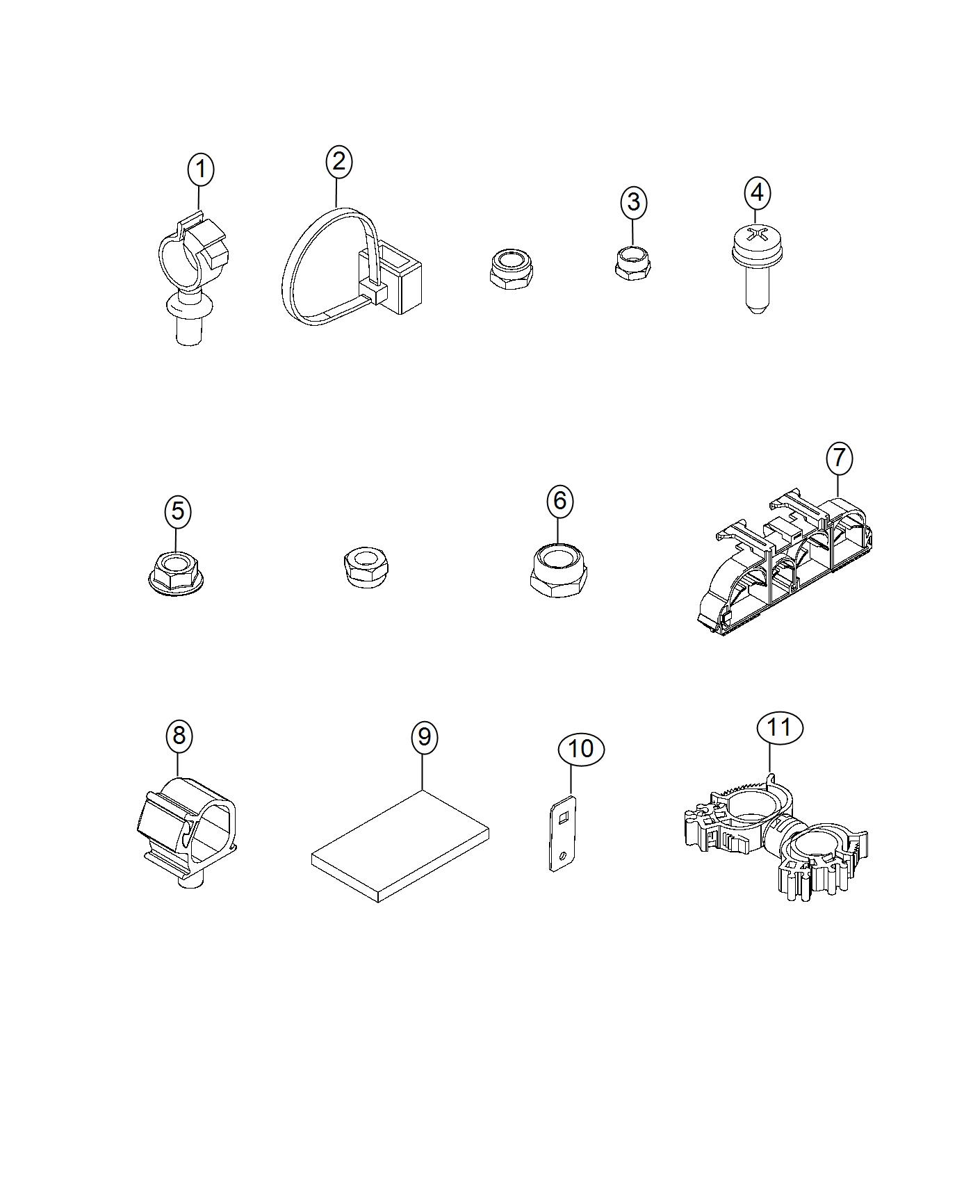 Ram Promaster City Clip Wiring Fasteners