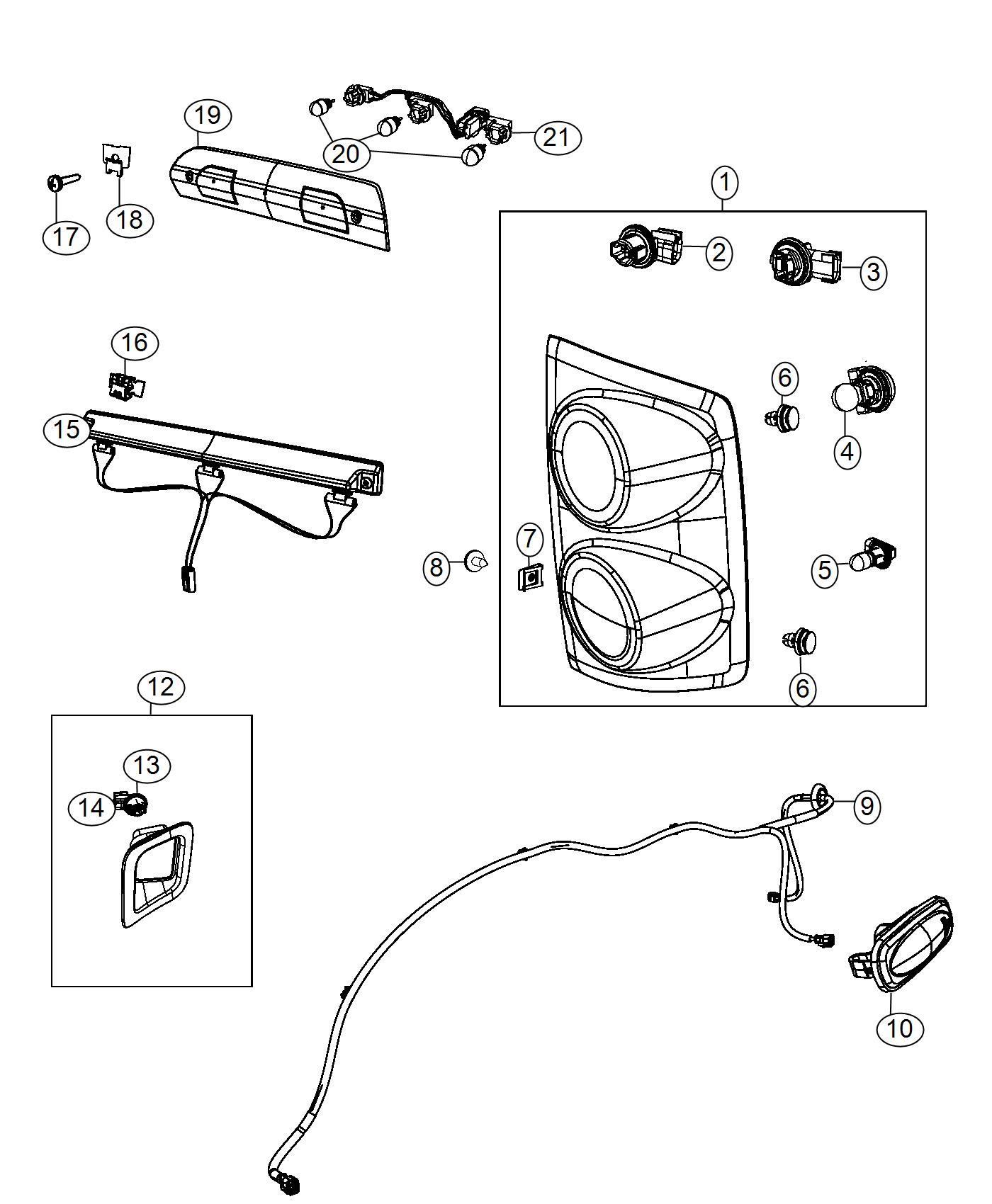 Dodge Ram Wiring Fender Lamp Dual Rear Wheels
